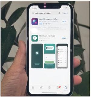파일명: 비영리 선교 법인 할렐루야 AI가 개발한 메신저 앱 '할렐루야 메신저'. [할렐루야 AI 제공]