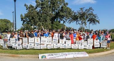 애틀랜타 한인여성골프협회 이사장배 토너먼트가 28일 샤또엘란 골프클럽에서 열렸다. 대회 메달리스트에 이미셸씨가 올랐다. 대회 시작 전 참가자들이 한자리에 모였다.